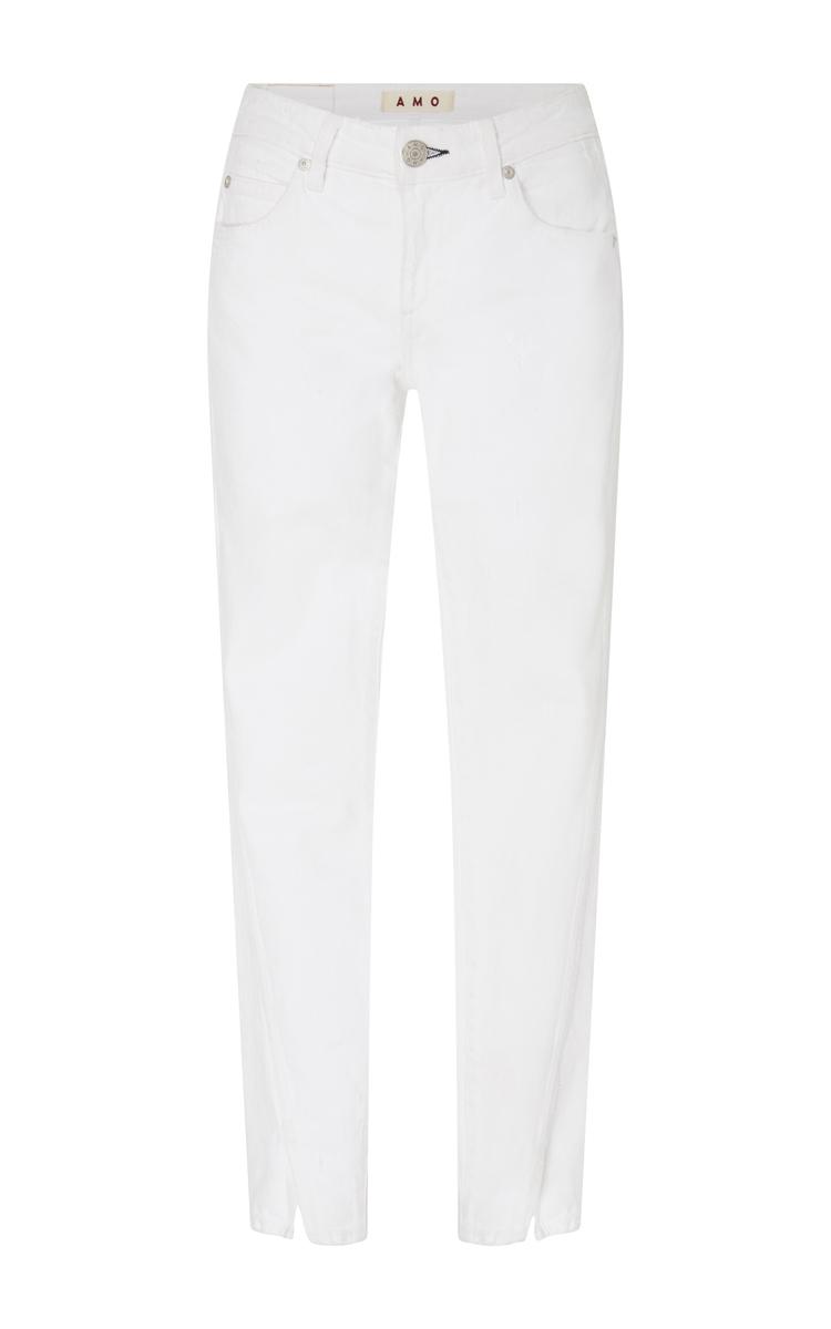 Vintage Split Ankle Mid Rise Skinny Jeans
