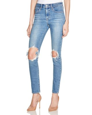 Levi's Cottons 721 Skinny Jeans in Rugged Indigo