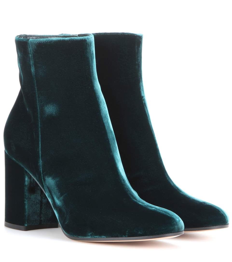 EXCLUSIVE TO MYTHERESA.COM - ROLLING 85 VELVET ANKLE BOOTS
