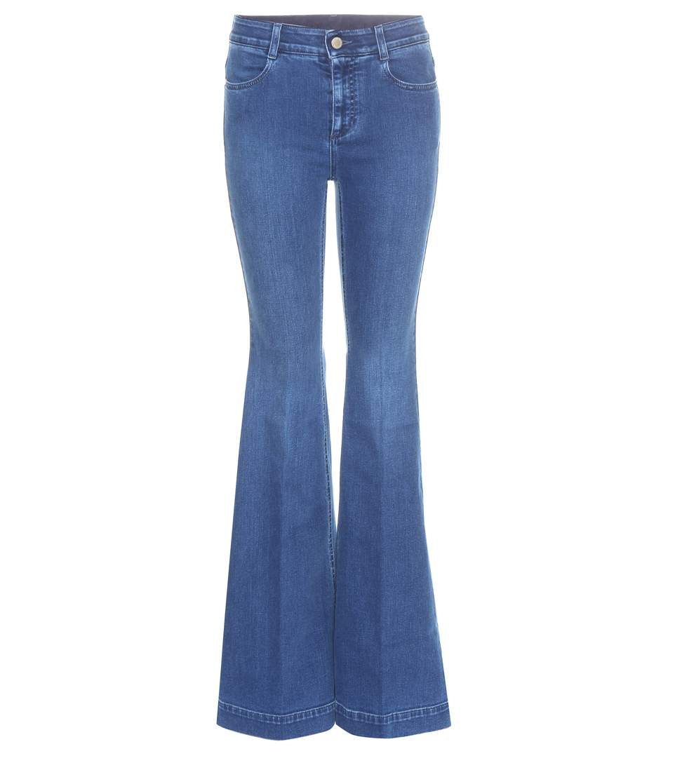 STELLA MCCARTNEY Flared Jeans in Deep Llue | ModeSens
