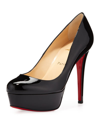 patent leather boat shoes men - christian louboutin Bianca platform pumps Black patent leather ...