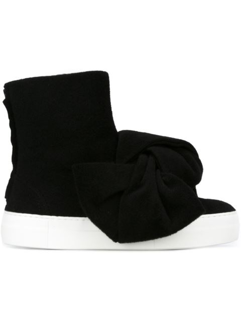 Black Knot Wool hi top sneakers Joshua Sanders
