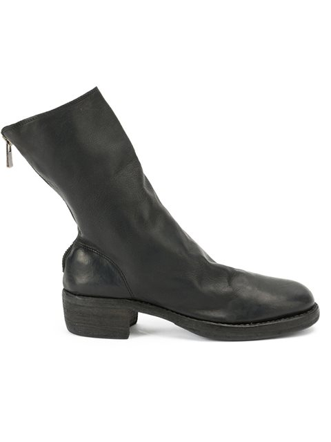 zipped mid-calf boots