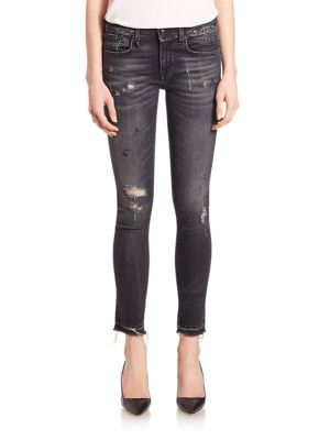 Alison Distressed Cropped Jeans