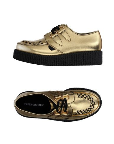 UNDERGROUND Laced Shoes in Gold