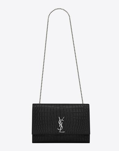 Monogram Sunset medium crocodile-embossed leather shoulder bag
