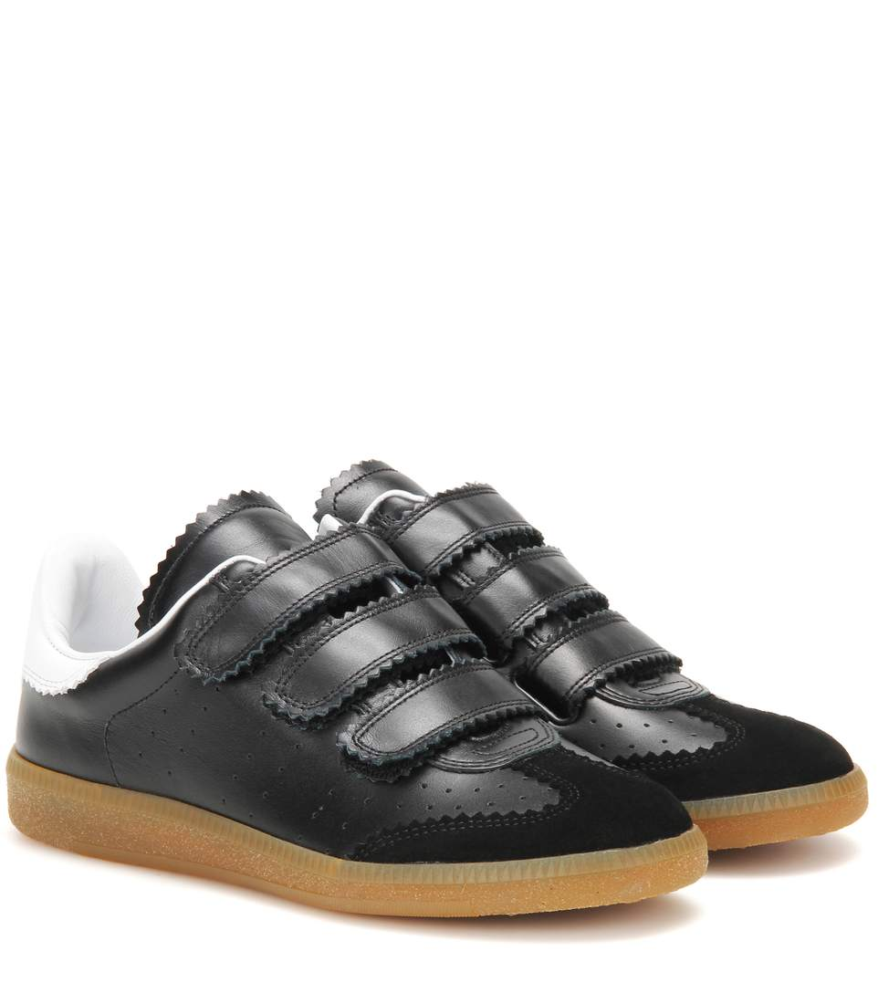 Étoile Beth leather and suede sneakers