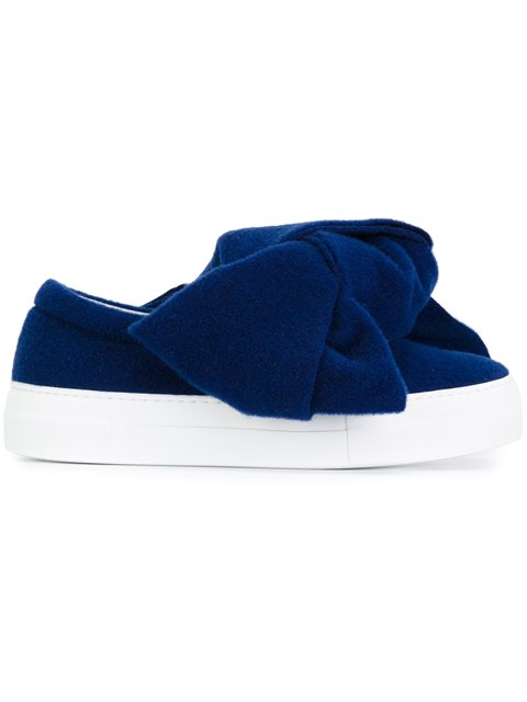 oversized bow sneakers