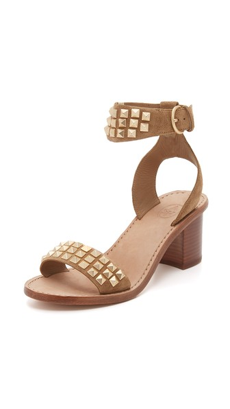 Pearl Studded Leather Sandals