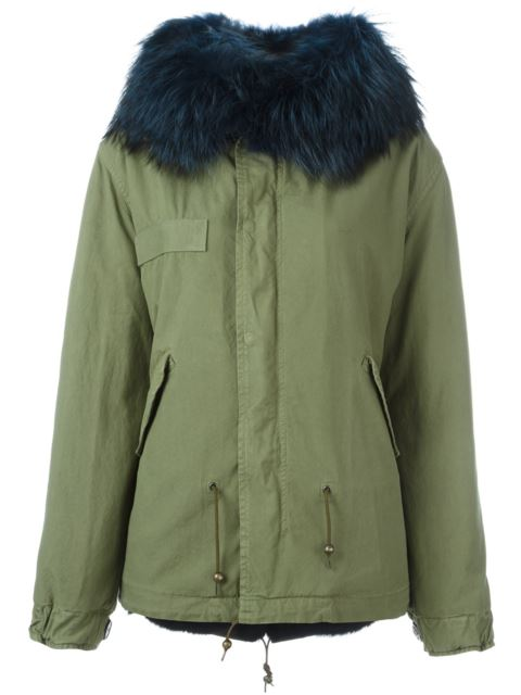 Mr & Mrs Italy FUR TRIM MIDI PARKA