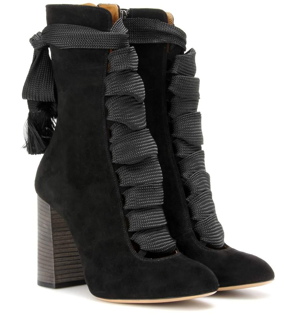 Black Suede Harper Boots