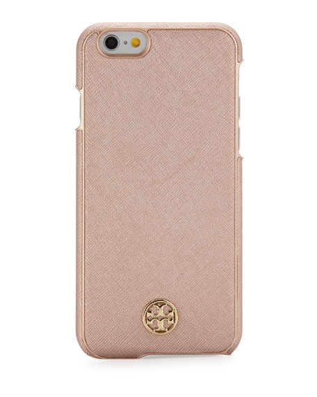 TORY BURCH Robinson Saffiano Hardshell Iphone® 6/6S Case, Rose Gold