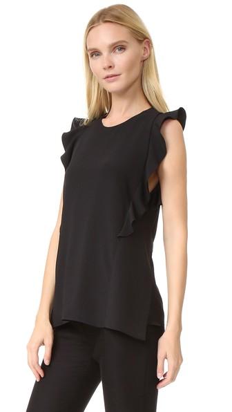 ruffled detailing blouse