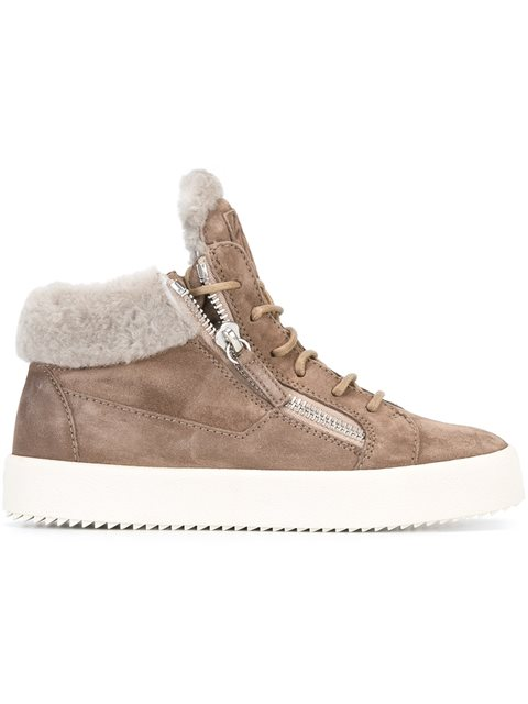 WOMEN'S MAY LONDON SUEDE SHEARLING LINED MID TOP SNEAKERS