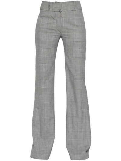 PRINCE OF WALES FLARED WOOL PANTS