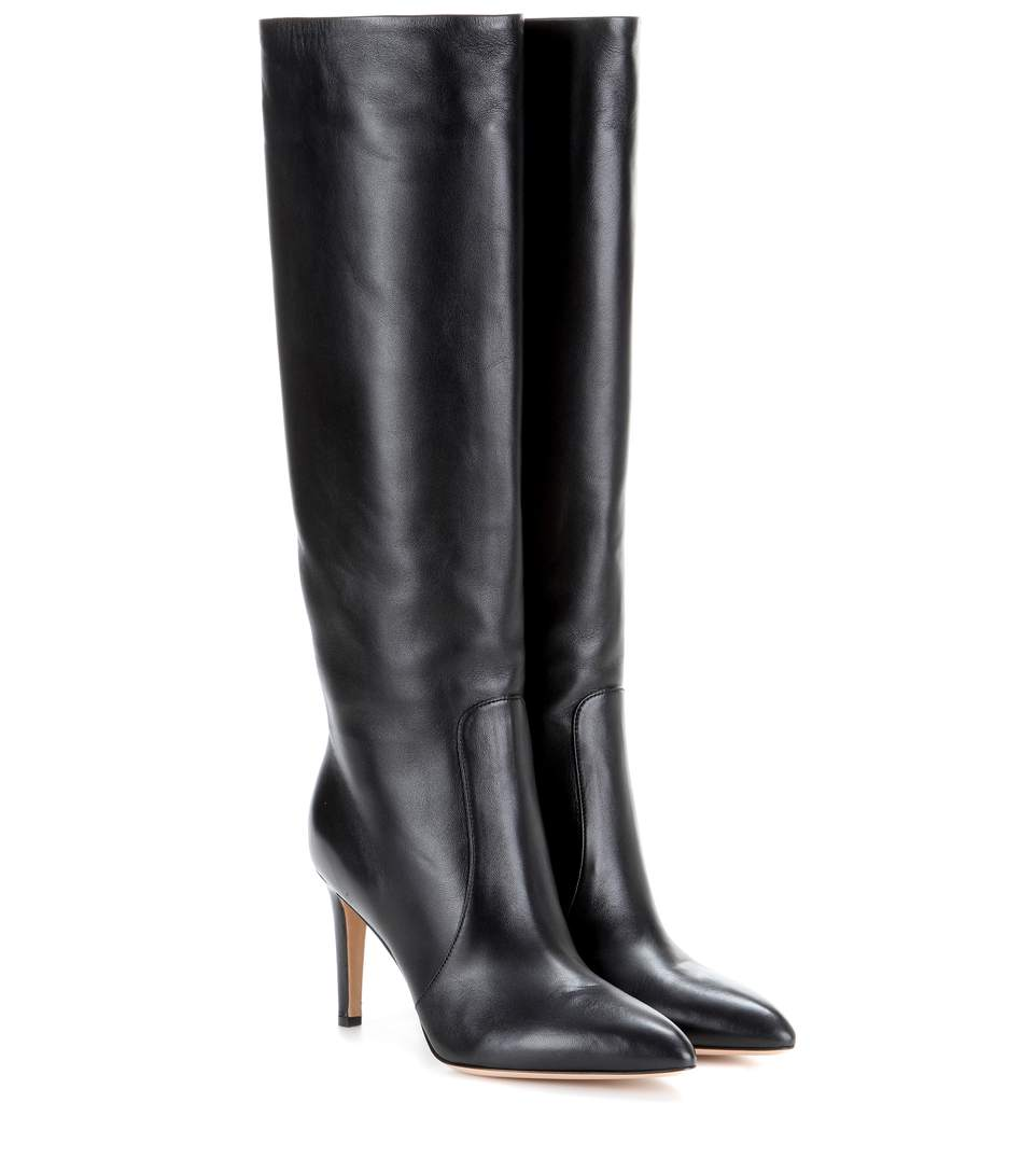 Vitello Leather Knee-High Boots