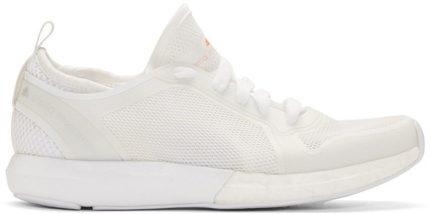 WOMAN SONIC RUBBER-TRIMMED STRETCH-MESH SNEAKERS OFF-WHITE