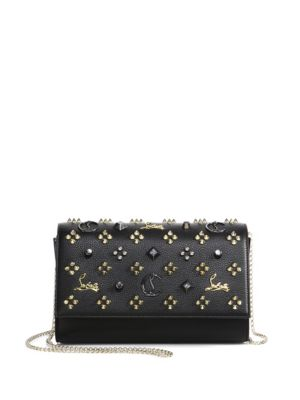 Paloma Convertible Studded Leather Clutch