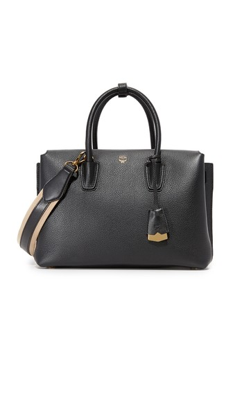'LARGE MILLA' LEATHER TOTE - GREY
