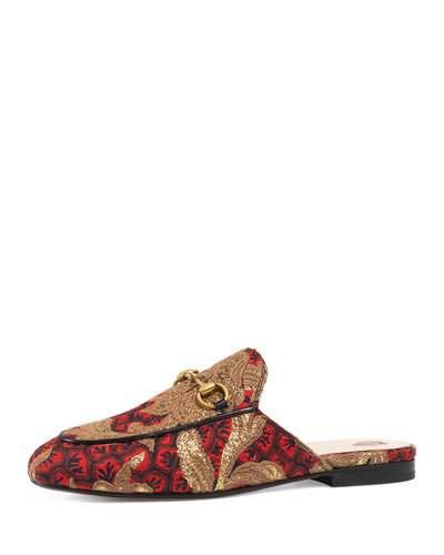 Princetown horsebit-detailed jacquard slippers