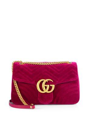 Mini Velvet Marmont Matelassé Shoulder Bag