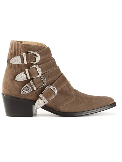 Buckled Suede Booties