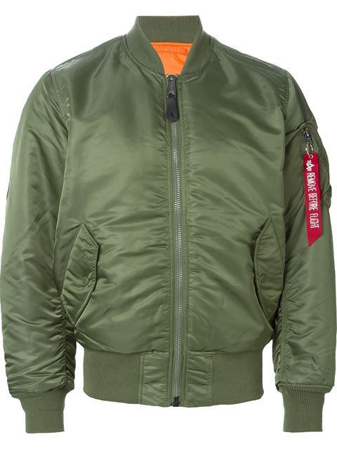 MA-1 VF REVERSIBLE NYLON BOMBER JACKET, SAGE GREEN