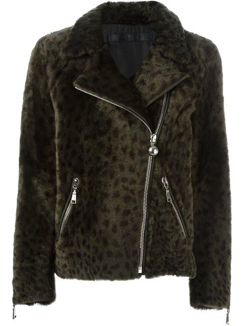 leopard print fur jacket