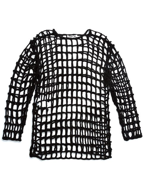 knitted grid top