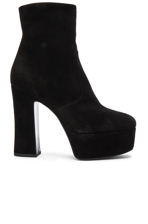 Black Suede Platform Candy Boots