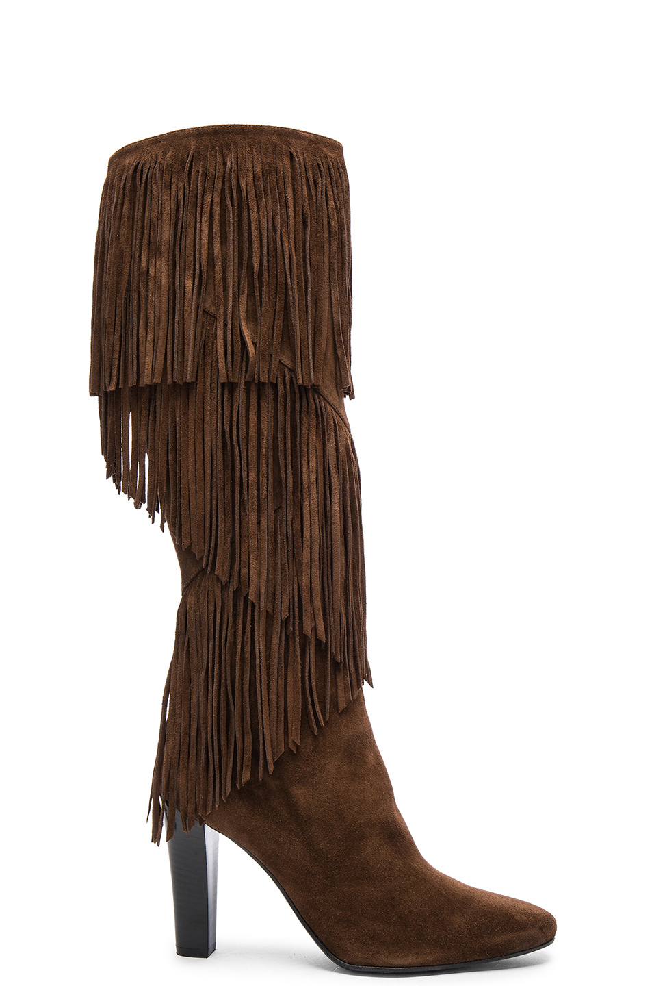Suede Lily Fringe Boots