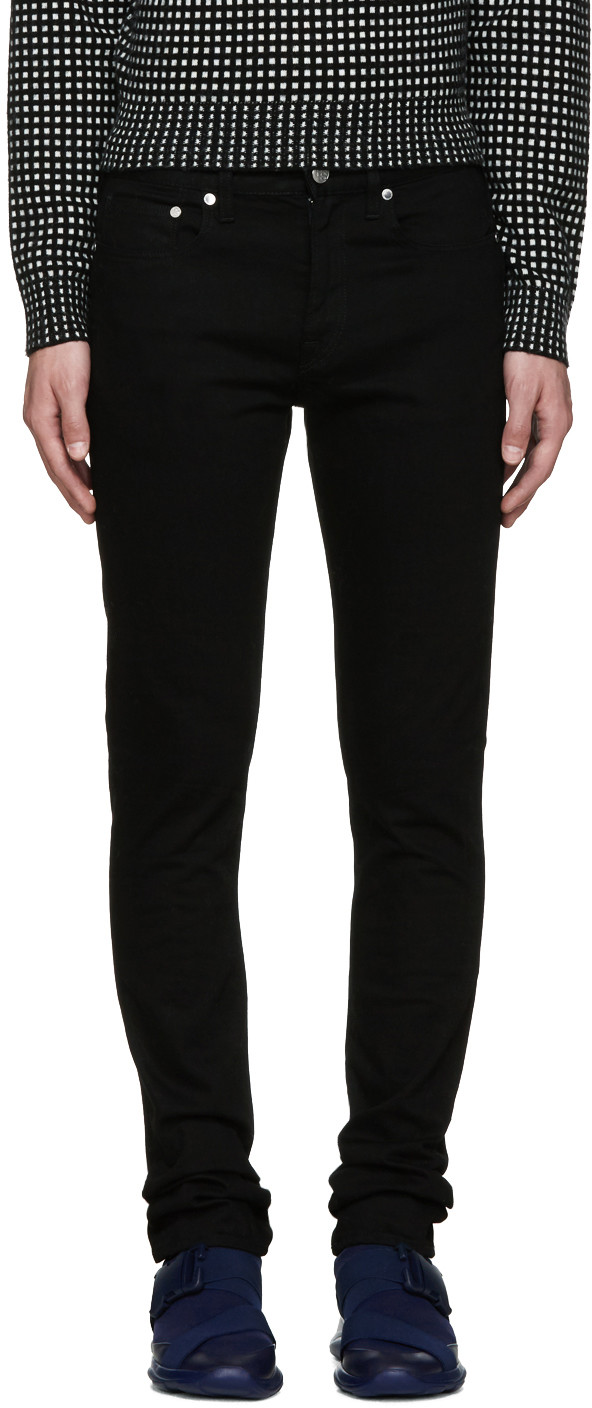 Ps By Paul Smith Cottons Black Skinny Jeans
