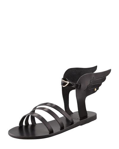 Ikaria Winged Vachetta Flat Sandal