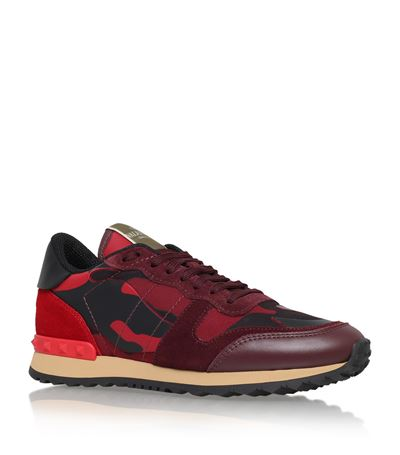 ROCKRUNNER CAMOUFLAGE LEATHER SNEAKERS