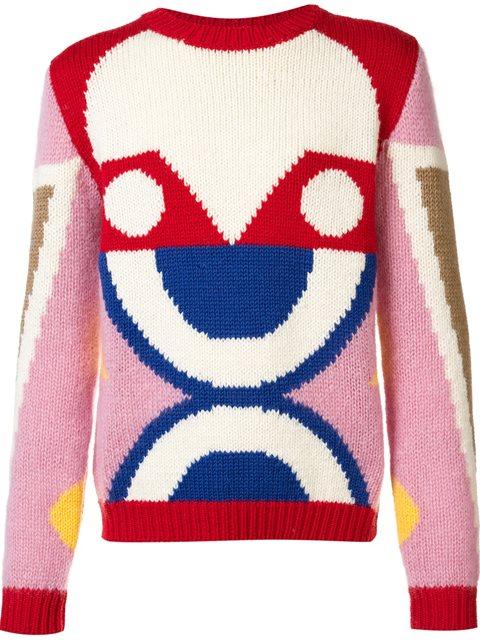 WALTER VAN BEIRENDONCK abstract pattern pullover