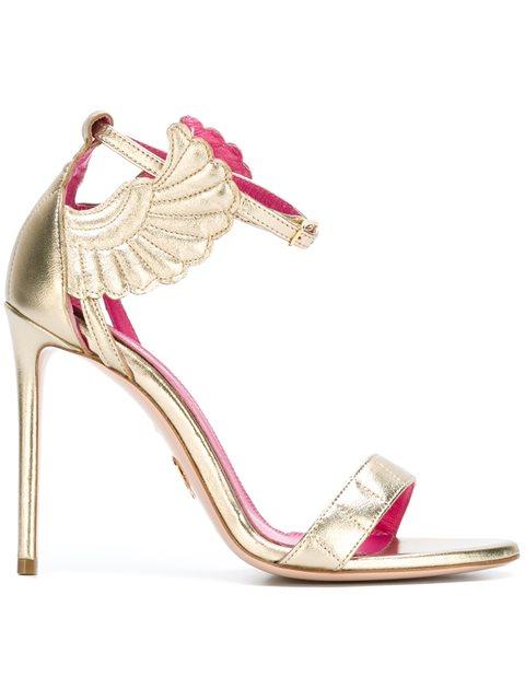 Malikah mirrored-leather sandals