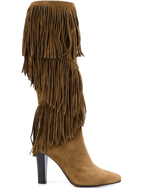 'LILY' FRINGE BOOTS