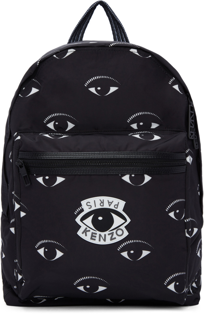 Kenzo Backpacks Black Nylon Eye Backpack