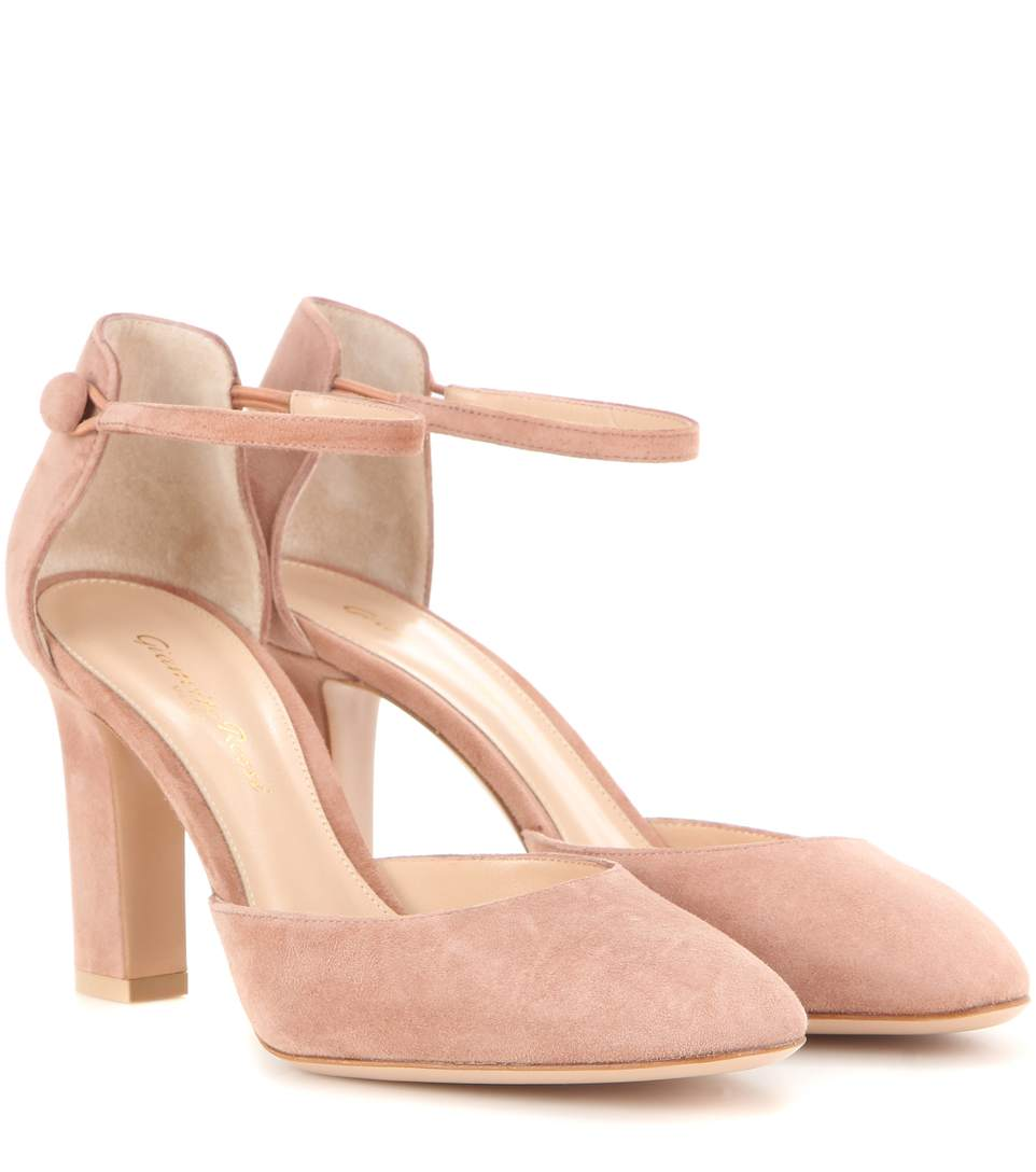 D Orsay Shoes With Ankle Strap Block Heel