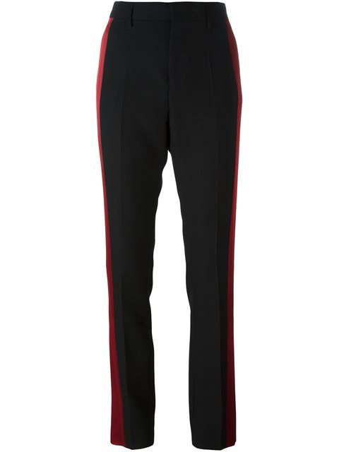 two-tone tailored trousers