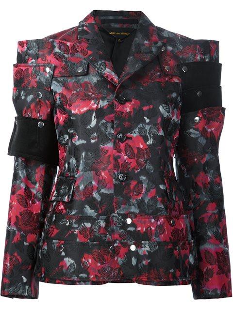 flowers jacquard jacket
