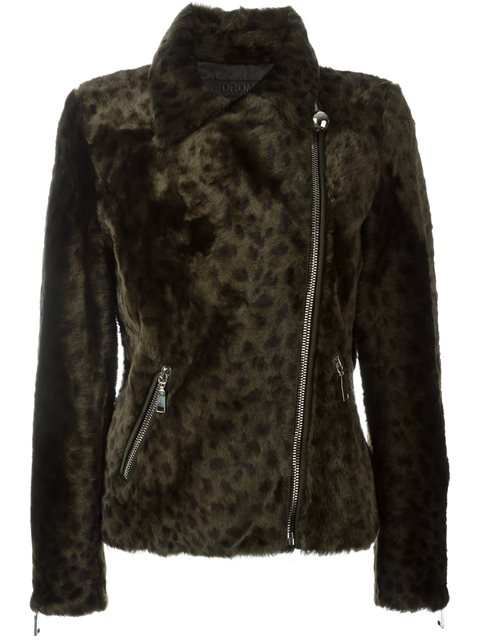 Drome leopard print fur jacket