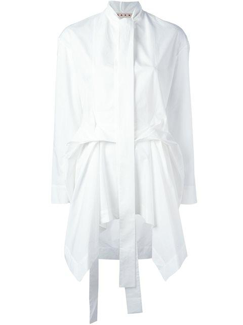 draped poplin shirt