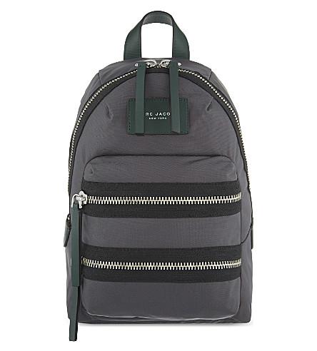 Biker Color Block Nylon Backpack