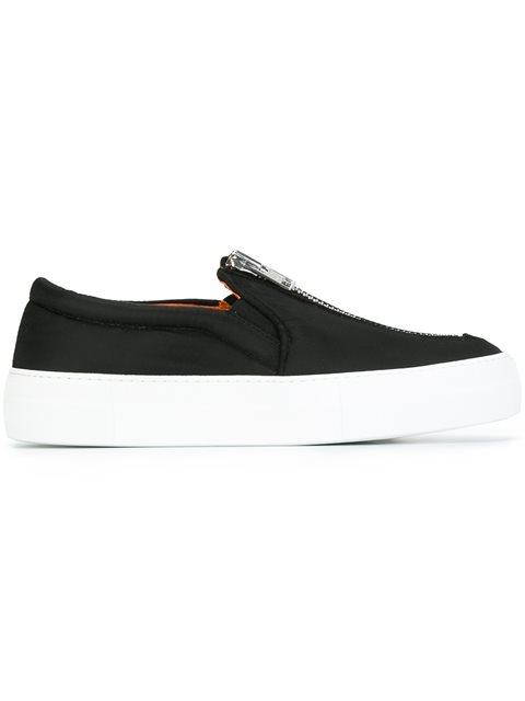 zipped slip-on sneakers