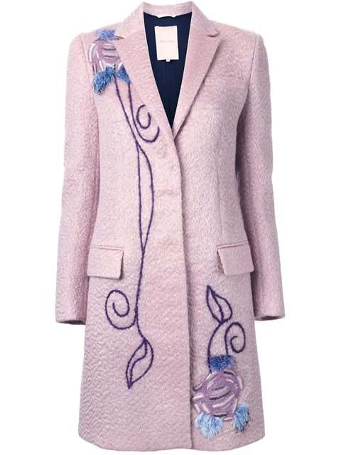 EMBROIDERED SINGLE BREASTED COAT