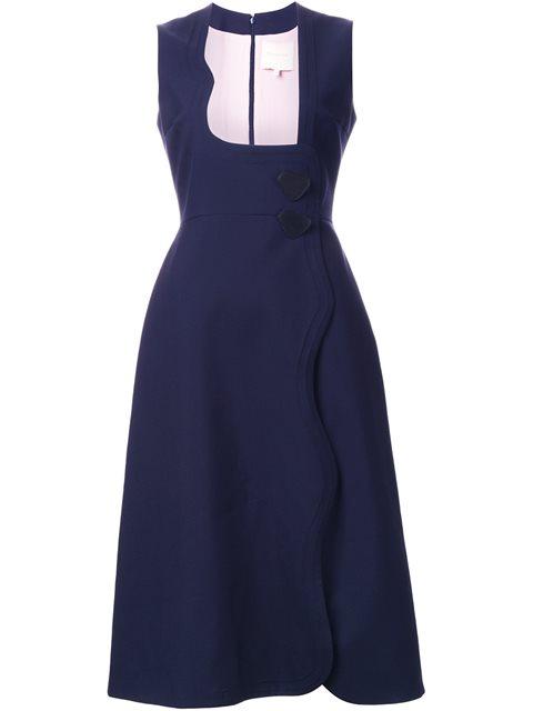 scalloped fastening dress