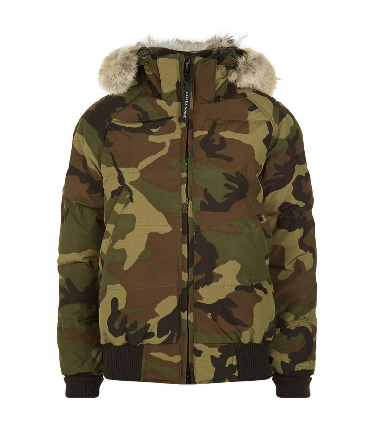 SAVONA HOODED QUILTED BOMBER JACKET, CLASSIC CAMO