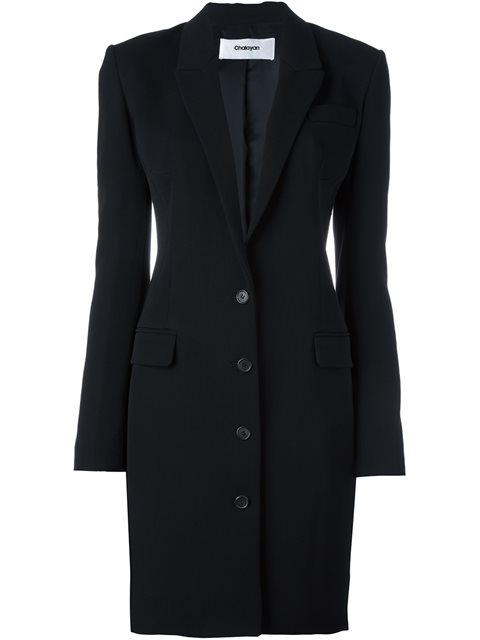 signature fitted long jacket