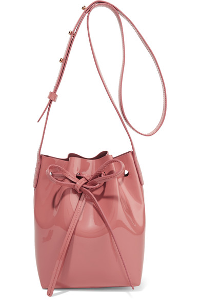 Mini Mini patent-leather bucket bag
